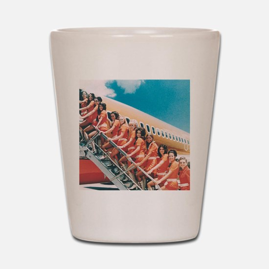 Flight Attendants Shot Glass