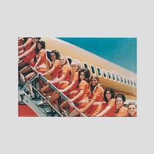 Flight Attendants Rectangle Magnet