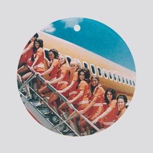 Flight Attendants Round Ornament