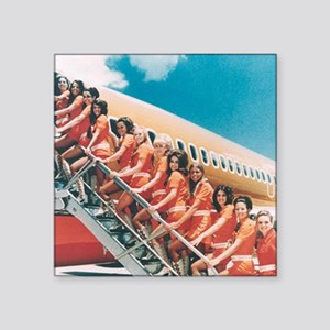 "Flight Attendants Square Sticker 3"" x 3"""