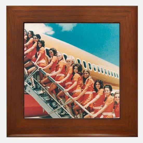 Flight Attendants Framed Tile