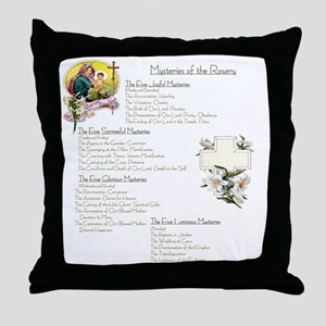 Mysteries of the Rosary Large Throw Pillow