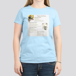 Mysteries of the Rosary Larg Women's Light T-Shirt