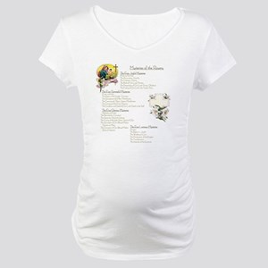 Mysteries of the Rosary Large Maternity T-Shirt