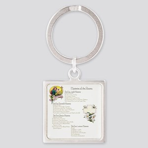 Mysteries of the Rosary Large Square Keychain