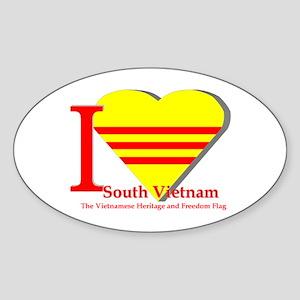 I love Viet Nam Cong Hoa Sticker (Oval)