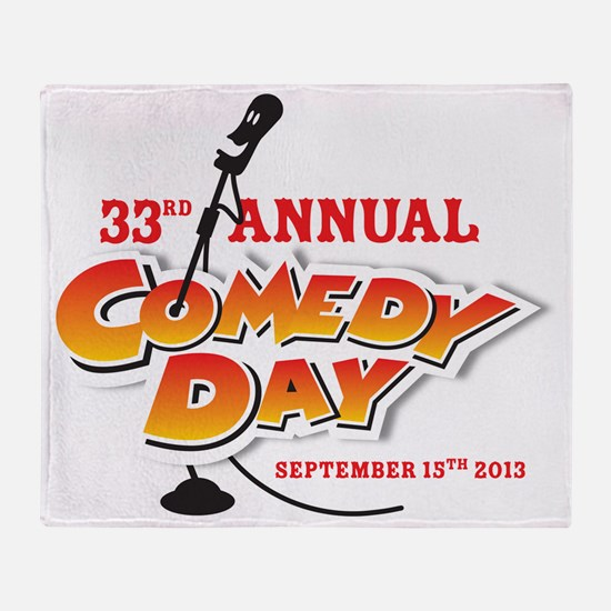 33rd Annual Comedy Day Throw Blanket