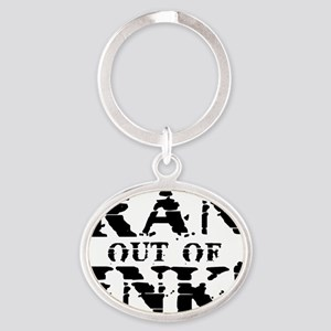 RAN OUT OF INK! Oval Keychain