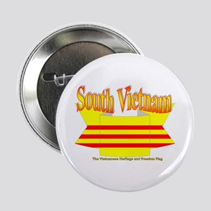South Vietnam flag ribbon Button
