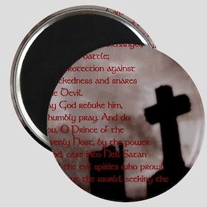 Saint Michael the Archangel Gothic Cross La Magnet