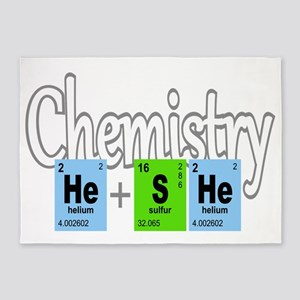 Chemistry He She Elements 5'x7'Area Rug