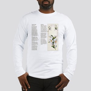 Prayers of the Rosary Large Long Sleeve T-Shirt