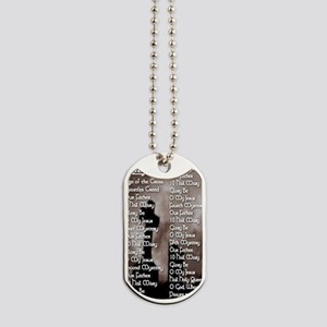 Rosary Helper with Gothic Cross Prayer Ca Dog Tags