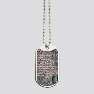 Saint Michael the Archangel with Stone An Dog Tags