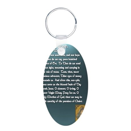 Hail Holy Queen of Heaven P Aluminum Oval Keychain