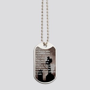 St. Michael the Archangel with Gothic Cro Dog Tags