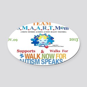 Team S.M.A.A.R.T.Mom 2013 Oval Car Magnet