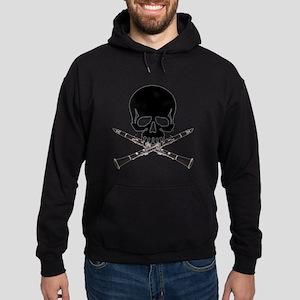 Skull with Clarinets Hoodie (dark)