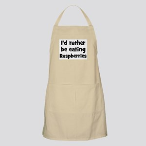 Rather be eating Raspberries BBQ Apron
