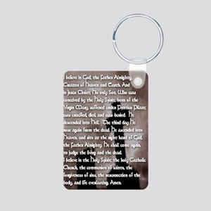 Apostles Creed with Gothic Aluminum Photo Keychain