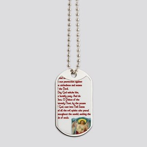 St. Michael the Archangel Crimson Prayer  Dog Tags