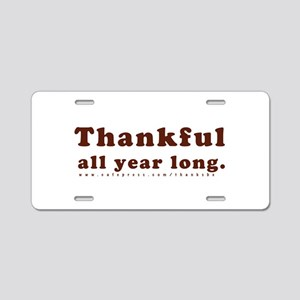 All Year Long Aluminum License Plate