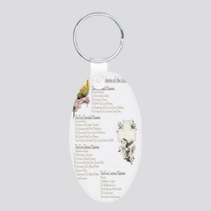 Mysteries of the Rosary Pra Aluminum Oval Keychain