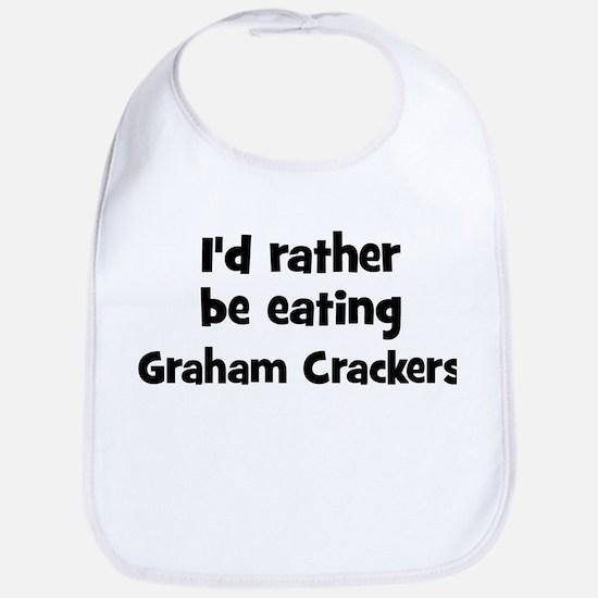 Rather be eating Graham Crack Bib