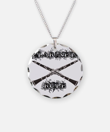 Clarinets Rule Necklace Circle Charm