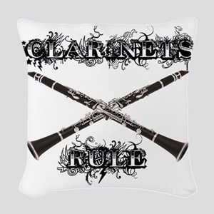 Clarinets Rule Woven Throw Pillow