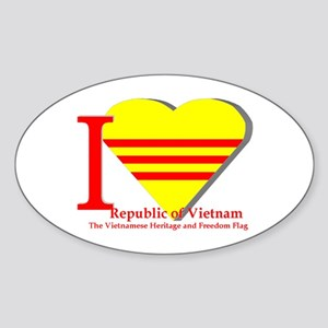 I love Vietnamese Republic Sticker (Oval)