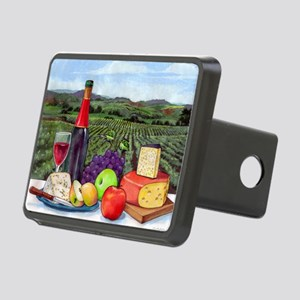 Wine  Cheese landscape Rectangular Hitch Cover
