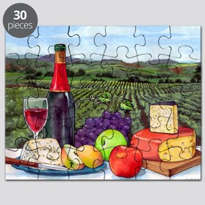Wine  Cheese landscape Puzzle