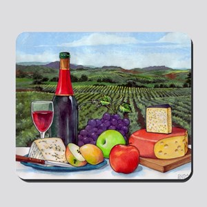 Wine  Cheese landscape Mousepad