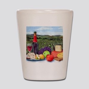 Wine  Cheese landscape Shot Glass