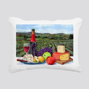 Wine  Cheese landscape Rectangular Canvas Pillow
