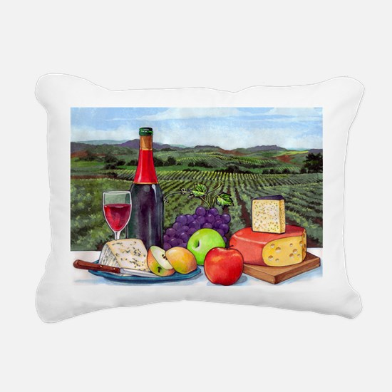 Wine  Cheese landscape Rectangular Canvas Pillow