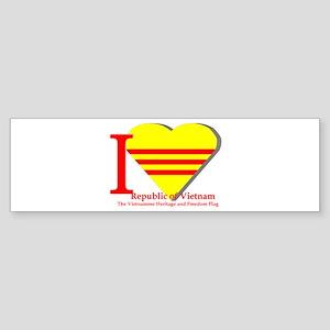I love Vietnamese Republic Sticker (Bumper)