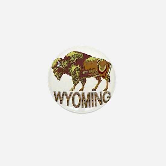 Wyoming state crest e3 Mini Button