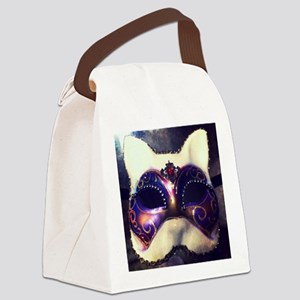 Cat Mask Canvas Lunch Bag