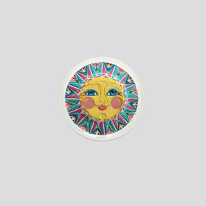 PLATE-SpringSun w-Flowers-ULd Mini Button
