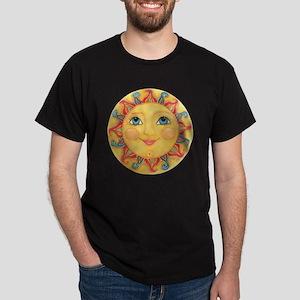 PLATE-Sun-Red-goldballs-rev Dark T-Shirt
