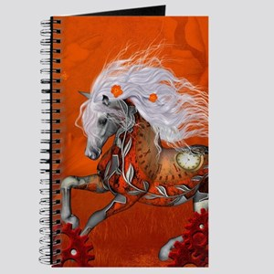Steampunk, wonderful wild steampunk horse Journal