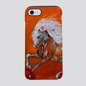 Steampunk, wonderful wild steampunk horse iPhone 7