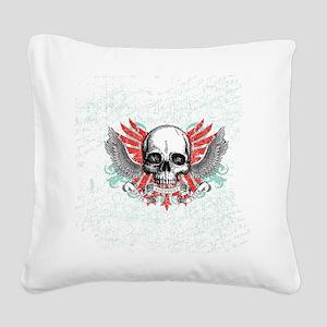 Skull Wrath Square Canvas Pillow