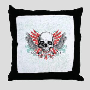 Skull Wrath Throw Pillow