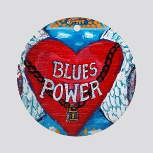 Blues Power Round Ornament