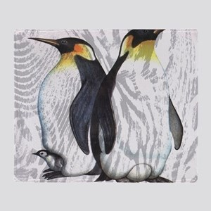 Emperor Penguins Throw Blanket