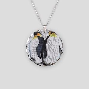 Emperor Penguins Necklace Circle Charm