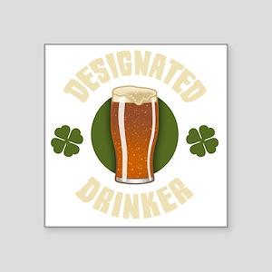 "designated-drinker-DKT Square Sticker 3"" x 3"""